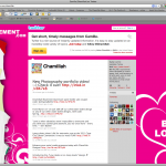 Chamillah Movement Twitter Background Design