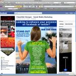 Chamillah Designs Facebook Fan Page Design