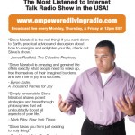 """Empowered Living Radio"" Steve Maraboli Flier Design"
