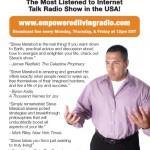 """""""Empowered Living Radio"""" Steve Maraboli Flier Design"""