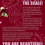 """Get Off The Scale"" Steve Maraboli Poster Design"