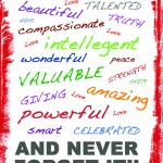 You Are Valuable Poster Design