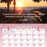 Breast Cancer Awearness Calendar Design