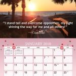 Breast Cancer Awearness Calendar Design