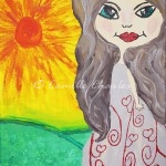 Acrylic and Oil Pastels - Sunshine Girl
