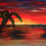 Acrylic and Glaze - Florida Sunset