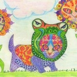 Colored Pencil - Alien Cats